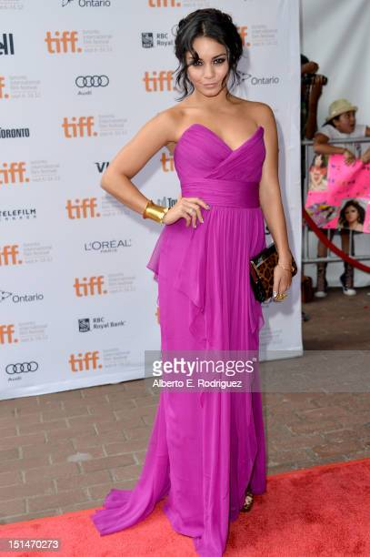 Actress Vanessa Hudgens attends theSpring Breakers premiere during the 2012 Toronto International Film Festival at Ryerson Theatre on September 7...