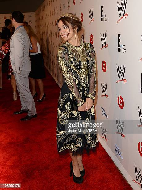 Actress Vanessa Hudgens attends WWE E Entertainment's 'SuperStars For Hope' at the Beverly Hills Hotel on August 15 2013 in Beverly Hills California