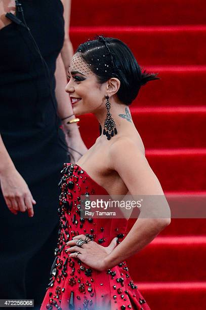 Actress Vanessa Hudgens enters the Metropolitan Museum of Art on May 4 2015 in New York City