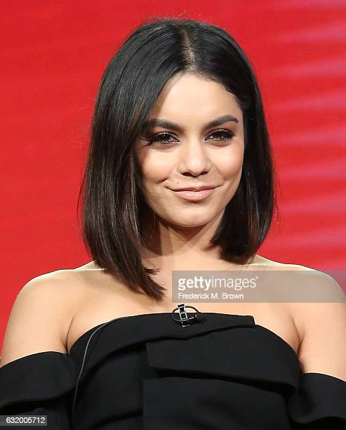 Actress Vanessa Hudgens of the television show 'Powerless' speaks onstage during the NBCUniversal portion of the 2017 Winter Television Critics...