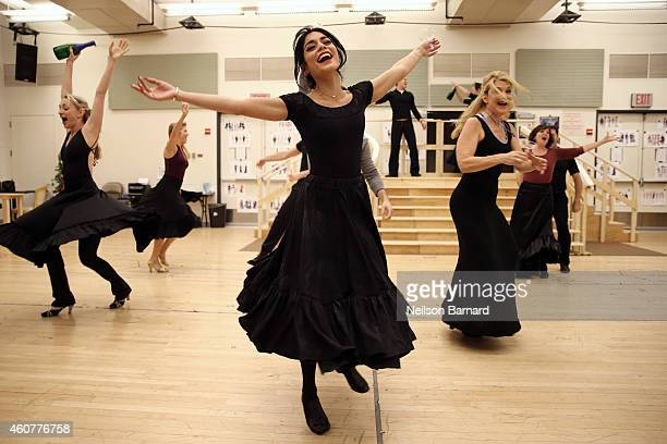 Actress Vanessa Hudgens performs during the preview performance and press meet and greet of The New Broadway Production of Lerner and Loewes 'Gigi'...