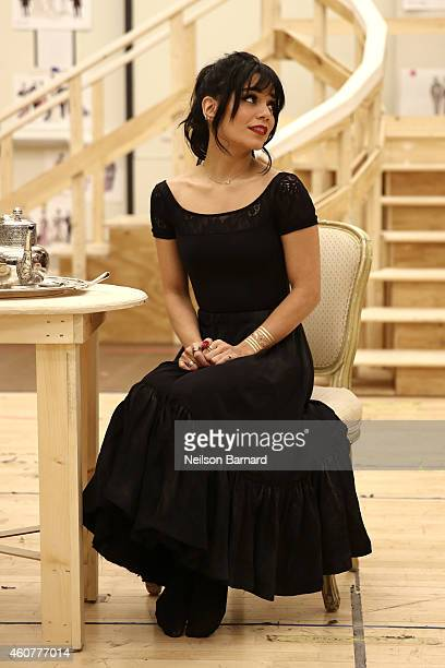 Actress Vanessa Hudgens performs during the preview performance and press meet and greet of The New Broadway Production of Lerner and Loewes Gigi at...