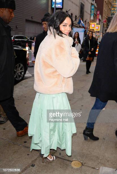 Actress Vanessa Hudgens seen outside Good Morning America on December 13 2018 in New York City