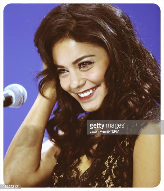 Actress Vanessa Hudgens speaks onstage at the 'Spring Breakers' press conference during the 2012 Toronto International Film Festival at TIFF Bell...