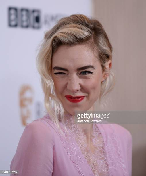 Actress Vanessa Kirby arrives at the BBC America BAFTA Los Angeles TV Tea Party 2017 at The Beverly Hilton Hotel on September 16 2017 in Beverly...