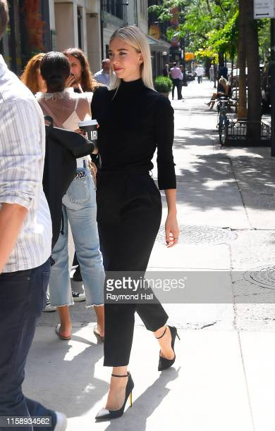 Actress Vanessa Kirby is seen outside BuzzFeedon August 1 2019 in New York City