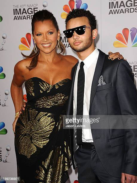 Actress Vanessa L Williams and son Devin Hervey attend the 43rd annual NAACP Image Awards at The Shrine Auditorium on February 17 2012 in Los Angeles...