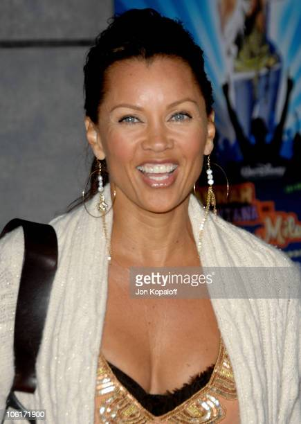 Actress Vanessa L Williams arrives at the Los Angeles Premiere 'Hannah Montana Miley Cyrus Best Of Both Worlds Concert 3D' at the El Capitan Theater...