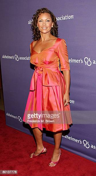 Actress Vanessa L Williams attends the Alzheimer's Association's 16th Annual A Night At Sardi's at the Beverly Hills Hotel on March 5 2008 in Beverly...