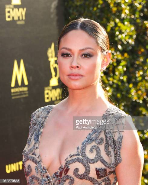 Actress Vanessa Lachey attends the 45th Annual Daytime Creative Arts Emmy Awards at the Pasadena Civic Auditorium on April 27 2018 in Pasadena...