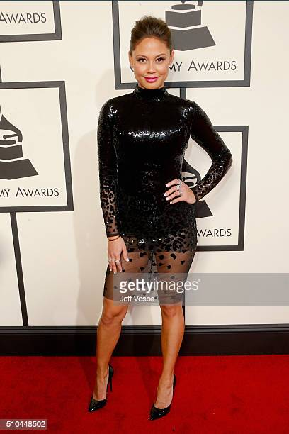 Actress Vanessa Lachey attends The 58th GRAMMY Awards at Staples Center on February 15 2016 in Los Angeles California