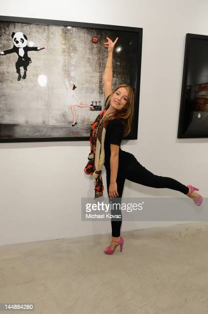Actress Vanessa Lengies attends Tyler Shields debut of MOUTHFUL presented by A/X Armani Exchange in support of LOVE IS LOUDER at a Private Studio on...