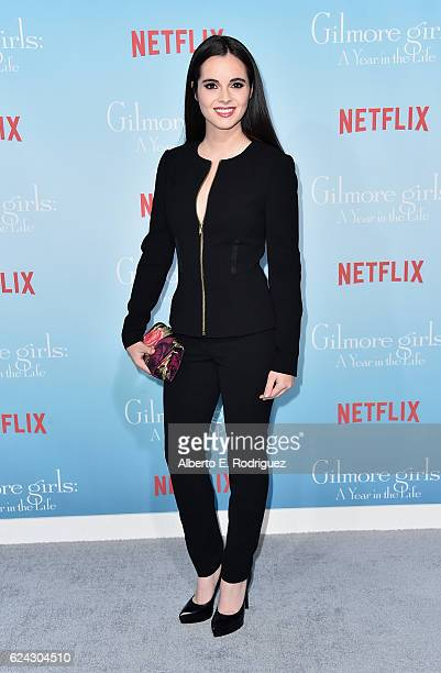 Actress Vanessa Marana attends the premiere of Netflix's 'Gilmore Girls A Year In The Life' at the Regency Bruin Theatre on November 18 2016 in Los...