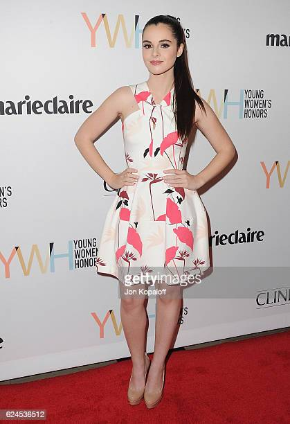 Actress Vanessa Marano arrives at the 1st Annual Marie Claire Young Women's Honors at Marina del Rey Marriott on November 19 2016 in Marina del Rey...