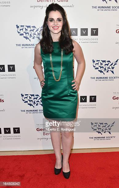Actress Vanessa Marano arrives to the 2013 Genesis Awards Benefit Gala at The Beverly Hilton Hotel on March 23 2013 in Beverly Hills California