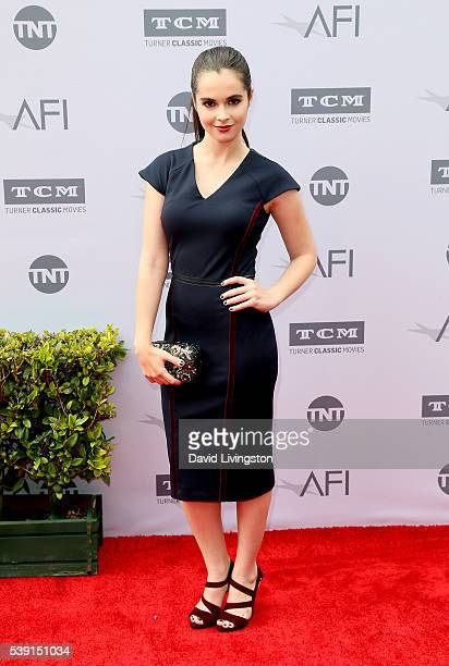Actress Vanessa Marano attends American Film Institute's 44th Life Achievement Award Gala Tribute to John Williams at Dolby Theatre on June 9 2016 in...