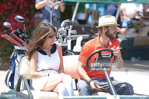 Actress Vanessa Marcil and actor Carmine Giovinazzo attends the 5th Annual George Lopez Celebrity Golf Classic to Benefit The Lopez Foundation at...