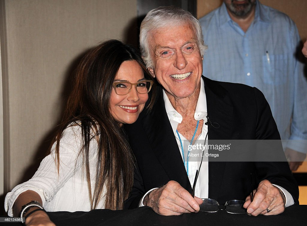 Actress Vanessa Marcil and actor Dick Van Dyke at The Hollywood Show held at The Westin Hotel LAX on January 24, 2015 in Los Angeles, California.