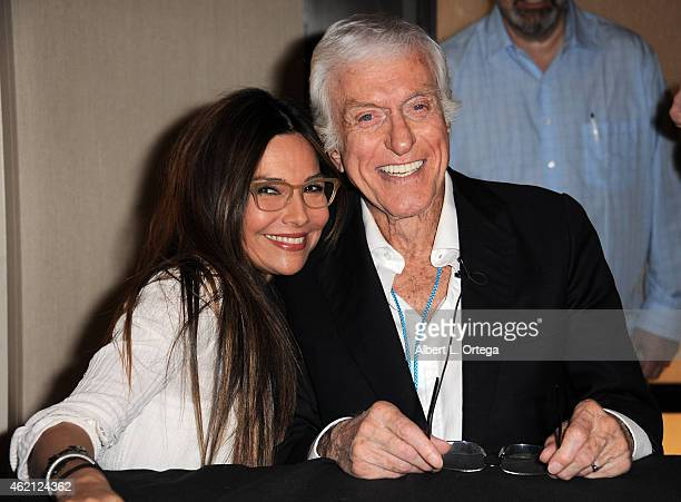 Actress Vanessa Marcil and actor Dick Van Dyke at The Hollywood Show held at The Westin Hotel LAX on January 24 2015 in Los Angeles California