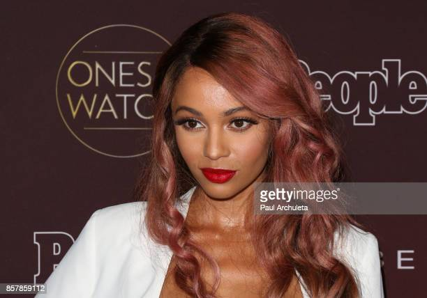 Actress Vanessa Morgan attends People's 'Ones To Watch' party at NeueHouse Hollywood on October 4 2017 in Los Angeles California