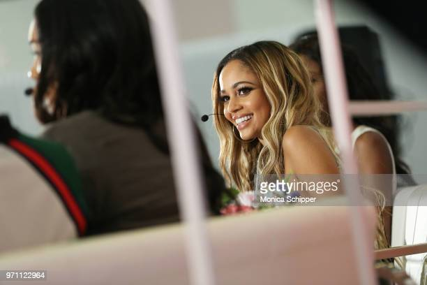 Actress Vanessa Morgan participates in the 'Screen Queens' panel on day 2 of POPSUGAR Play/Ground on June 10 2018 in New York City