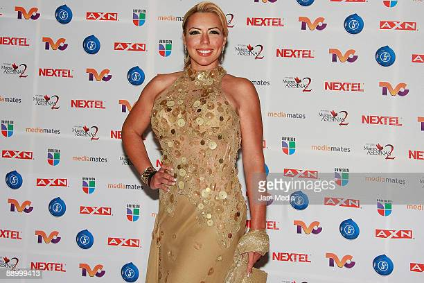 CITY MEXICO JULY 11 Actress Vanessa Oyarzun during the red carpet of the series of television Killer Women two at the facilities San Angel Televisa...