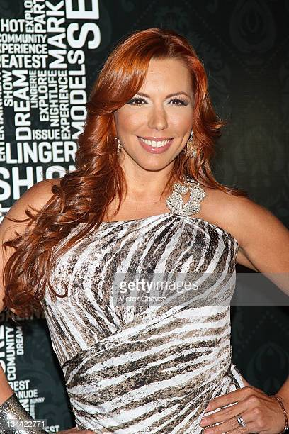 "Actress Vanessa Oyarzun ""La Vecina"" attends the Christmas Playboy Mexico magazine party at the Ragga Antara Polanco on November 30 2011 in Mexico..."