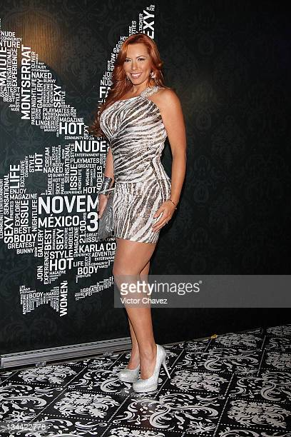Actress Vanessa Oyarzun 'La Vecina' attends the Christmas Playboy Mexico magazine party at the Ragga Antara Polanco on November 30 2011 in Mexico...