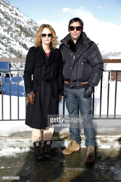 Actress Vanessa Paradis and Director Samuel Benchetrit attend 'Les Arcs European Film Festival' on December 20 2017 in Les Arcs France