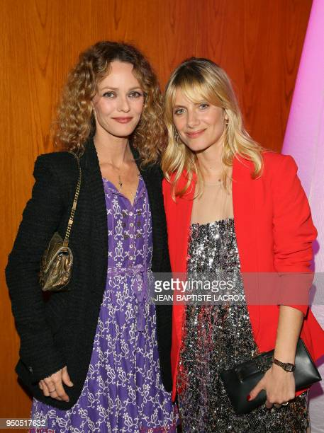 Actress Vanessa Paradis and director/actress Melanie Laurent pose during opening night of the 2018 COLCOA French Film Festival April 23 2018 at the...
