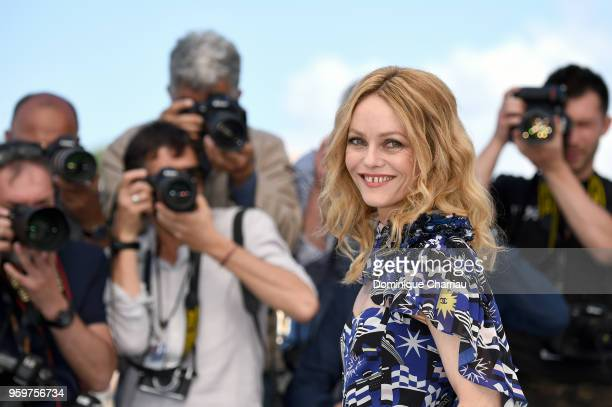 Actress Vanessa Paradis attends 'Knife Heart ' Photocall during the 71st annual Cannes Film Festival at Palais des Festivals on May 18 2018 in Cannes...