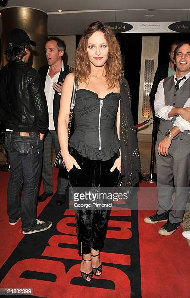 Actress Vanessa Paradis attends the Cafe De Flore Premiere during the 2011 Toronto International Film Festival held at Princess of Wales theatre on...