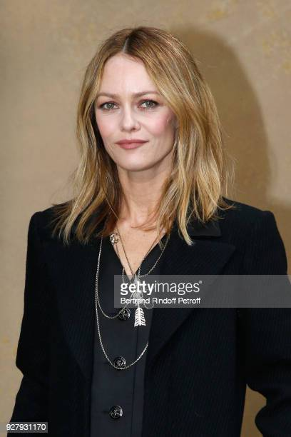Actress Vanessa Paradis attends the Chanel show as part of the Paris Fashion Week Womenswear Fall/Winter 2018/2019 on March 6 2018 in Paris France