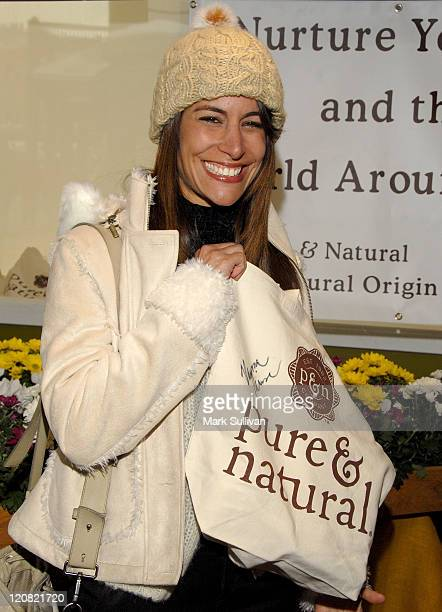 Actress Vanessa Parise attends the Pure Natural Celebrity EcoRetreat produced by backstage Creations on January 20 2008 in Park City Utah