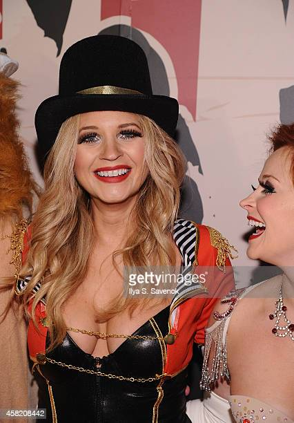 Actress Vanessa Ray attends Moto X presents Heidi Klum's 15th Annual Halloween Party sponsored by SVEDKA Vodka at TAO Downtown on October 31 2014 in...