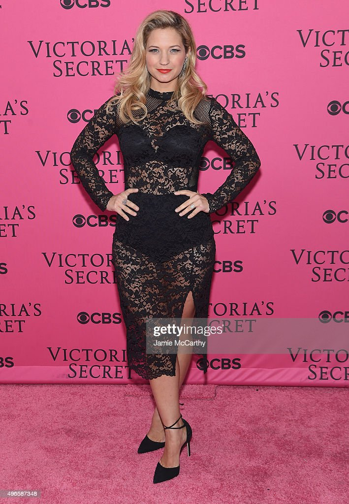 Actress Vanessa Ray attends the 2015 Victoria's Secret Fashion Show at Lexington Avenue Armory on November 10, 2015 in New York City.