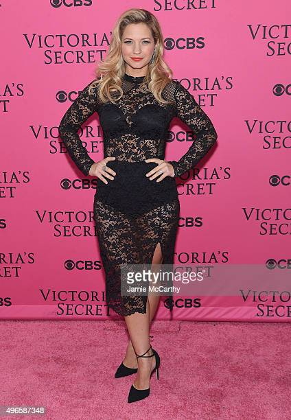 Actress Vanessa Ray attends the 2015 Victoria's Secret Fashion Show at Lexington Avenue Armory on November 10 2015 in New York City