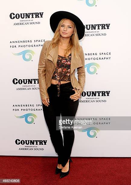Actress Vanessa Ray attends the Annenberg Space for Photography Opening Celebration for Country Portraits of an American Sound at the Annenberg Space...