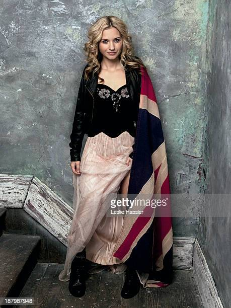 Actress Vanessa Ray is photographed for Self Assignment on December 16, 2011 in New York City.