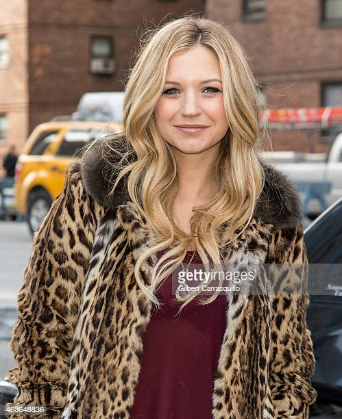 Actress Vanessa Ray is seen arriving at Dennis Basso fashion show during MercedesBenz Fashion Week Fall 2015 at Lincoln Center on February 16 2015 in...