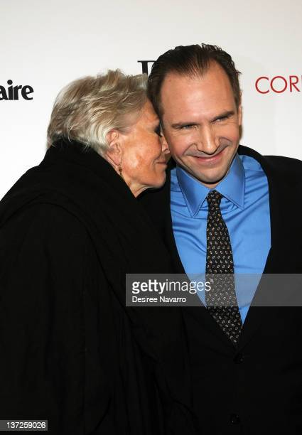 Actress Vanessa Redgrave and actor Ralph Fiennes attend the premiere of 'Coriolanus' at Paris Theater on January 17 2012 in New York City