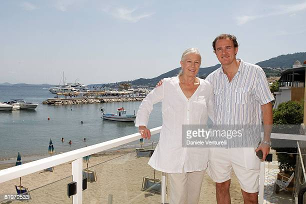 Actress Vanessa Redgrave and director Carlo Gabriel Nero pose during day two of the Ischia Global Film And Music Festival on July 17, 2008 in Ischia,...