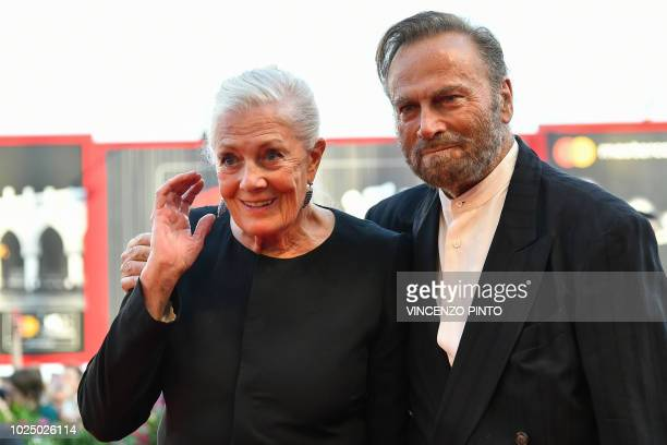 Actress Vanessa Redgrave and her husband actor Franco Nero arrive for the opening ceremony of the 75th Venice Film Festival on August 29 2018 at...