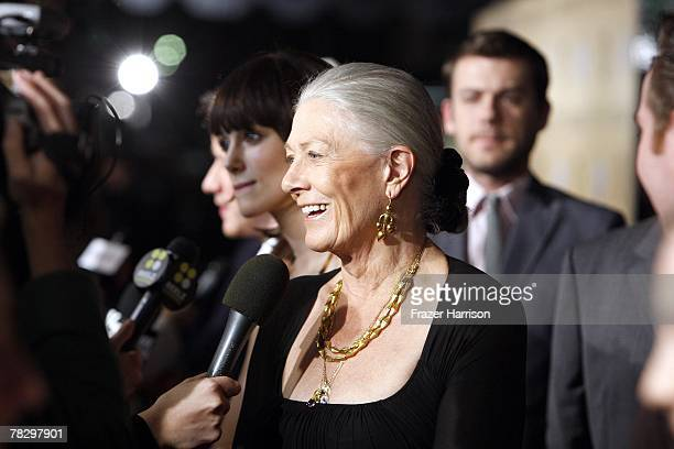 Actress Vanessa Redgrave arrives to the Premiere Of Focus Features' Atonement at The Academy of Motion Picture Arts and Sciences on December 62007 in...