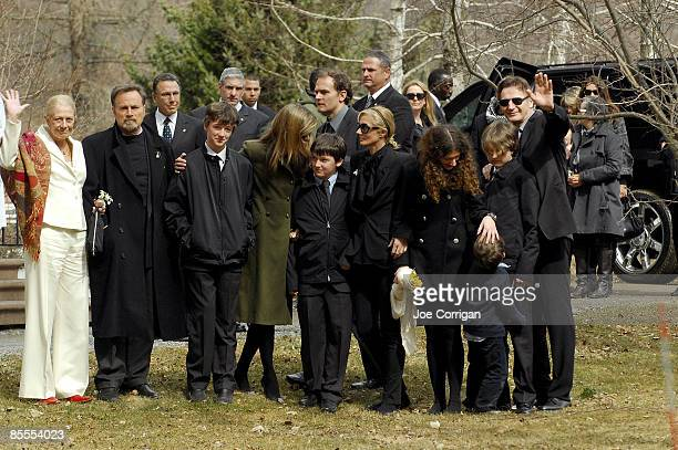 Actress Vanessa Redgrave Franco Nero Micheal Neeson Joely Richardson Daisy Bevan Daniel Neeson and actor Liam Neeson gather together prior to the...