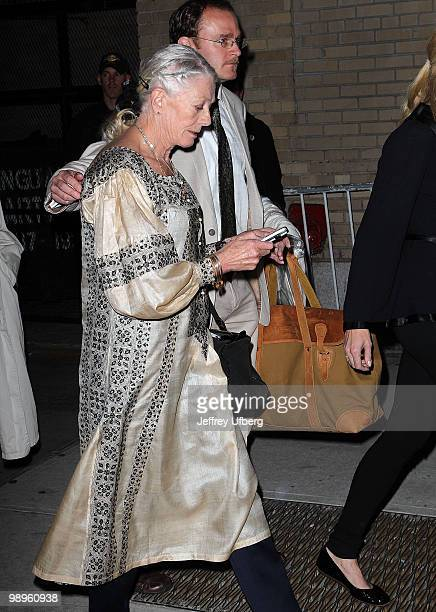 Actress Vanessa Redgrave is seen on the streets of Manhattan on May 10 2010 in New York City