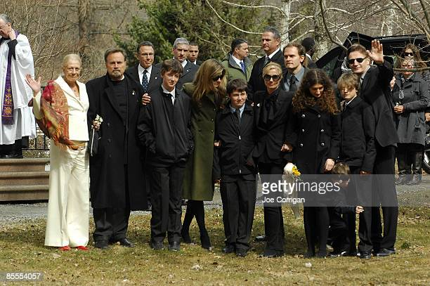 Actress Vanessa Redgrave Micheal Neeson Joely Richardson Daisy Bevan Daniel Neeson and actor Liam Neeson gather together prior to the funeral of...