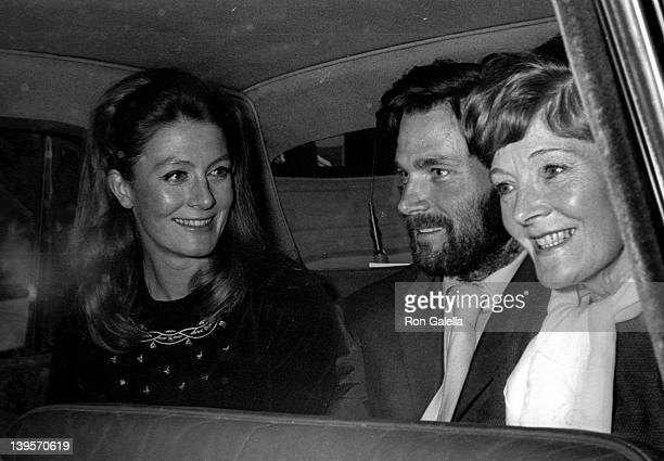 Actress Vanessa Redgrave mother Rachel Kempson and Franco Nero sighted on October 22 1969 in London England