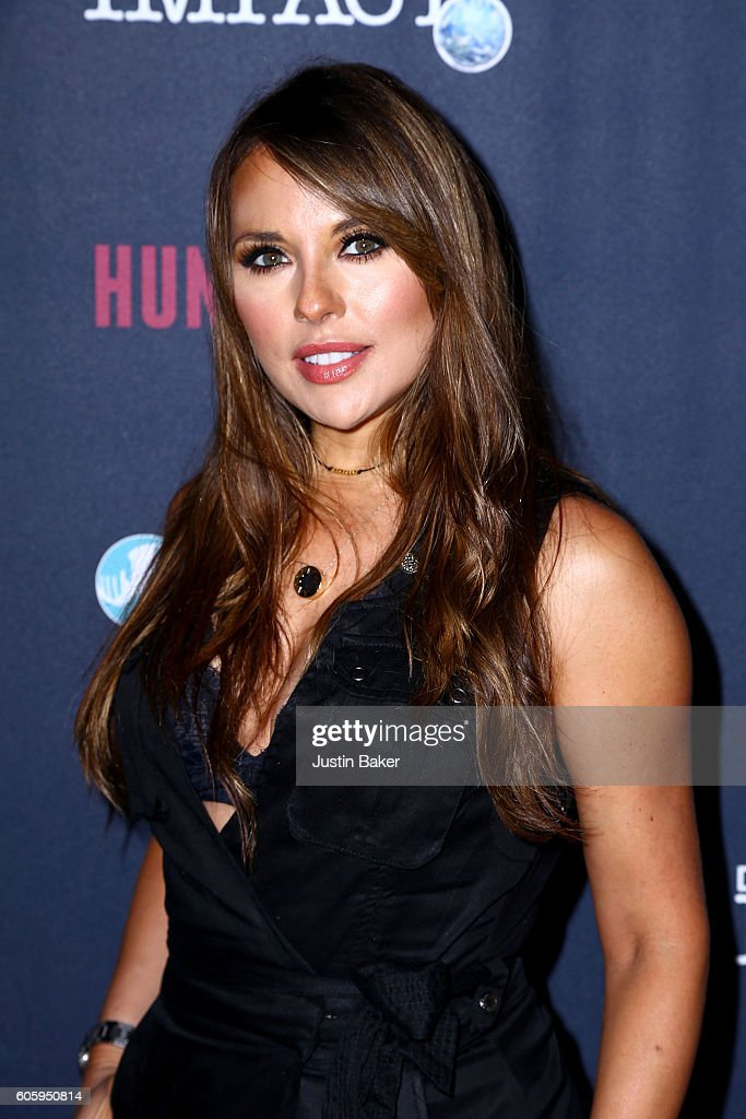Actress Vanessa Villela attends the screening of Discovery Impact's 'Huntwatch' at NeueHouse Hollywood on September 15, 2016 in Los Angeles, California.