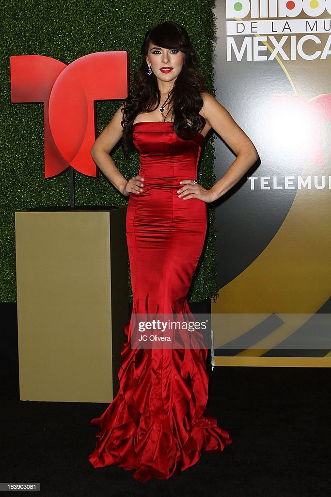 Actress Vanessa Villela poses for a photograph at The 2013 Billboard Mexican Music Awards - Press Room at Dolby Theatre on October 9, 2013 in Hollywood, California.